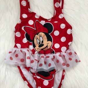 Other - Disney   Minnie Mouse Tutu One Piece Swimsuit 12mo